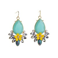 Yellow Wildflower Drop Earrings