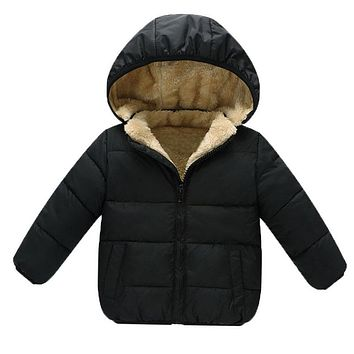 Winter Baby Boys Snowsuit Cotton Girls Coats Jackets Baby Thicken Warm Velvet Down Parka Kids Boy Jackets Outerwear