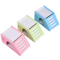Lovey Exquisite Wooden Hamster House Viewing Deck House for Pets  hamsters chinchillas guinea-pig hamster nest with ladder
