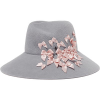Maison Michel - Roe bow-embellished rabbit-felt hat