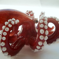 Glass Pipe  OCTOPUS PIPE Hand Blown Made to Order by LoudActions