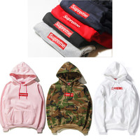 Supreme Print Unisex Lover's Pullover Hoodies Sweater