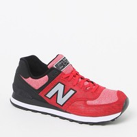 New Balance 574 Sweatshirt Red & Black Shoes - Mens Shoes - Red