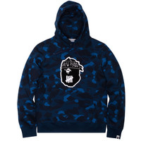 UNDEFEATED X BAPE COLOR CAMO PULLOVER HOODY   Undefeated