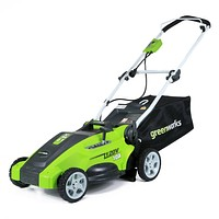 Greenworks 16-Inch 10 Amp Corded Electric Lawn Mower 25142 16 inch Electric 10 Amp