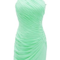 Dressystar One Shoulder Pleated Bridesmaid Cocktail Party Dresses Column