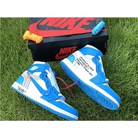 Off-White x Air Jordan 1 North Carolina Blue