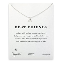 Dogeared Best Friends Wishbone Sterling Silver Reminder Wish Boxed Necklace