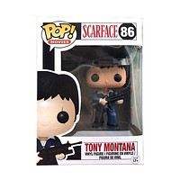 Funko POP Scarfac Tony Montana # 86 Vinyl Action Figures Collection Model Toys for Children Gift|Action & Toy Figures