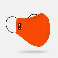Bright Orange Stretch String Face Mask With Nose Shape