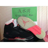 Air Jordan 5 black pink Basketball Shoes 36-47