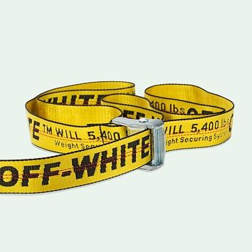 Off White C/O Virgil Abloh Belts Men Women Logo Letters Embroidery Cut Me Off High Street Hip Hop Skateboard Kanye Belts