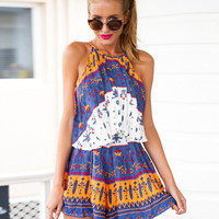 Printed Halter Sleeveless Pleated Shift Mini Dress