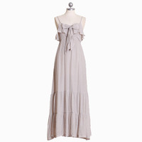 light-hearted laughter ruffle front maxi dress - $44.99 : ShopRuche.com, Vintage Inspired Clothing, Affordable Clothes, Eco friendly Fashion