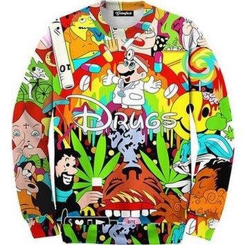 Drugs For Disney Crewneck