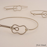Sideways Acoustic Guitar Bracelet (Recycled Guitar String Jewelry)
