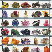 Minerals of the World Geology Poster 24x36