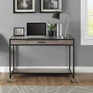 Modern Home Office Laptop Computer Desk Sofa Table Sideboard with Locking Casters