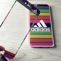 Rainbow Adidas Tempered Glass Screen Protecter