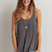 AEO Lace Swing Tank , Chalk | American Eagle Outfitters