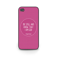 Bible Verse phone case pink iphone 6 cover Psalm 46:10 Bible Verse iPhone 5s Phone Case iPhone 5c iPhone 4s Bible Verse Christian Phone Case