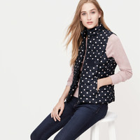 Polka Dot Quilted Puffer Vest