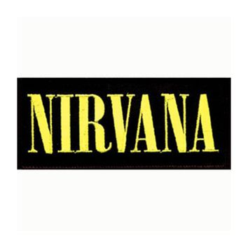 Nirvana Men's Embroidered Patch Black
