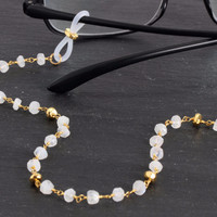 Moonstone Eyewear Chain with Gold