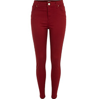 River Island Womens Red Lana superskinny jeans
