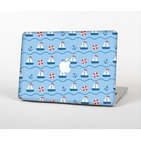 The Blue & Red Nautical Sailboat Pattern Skin for the Apple MacBook Air 13""