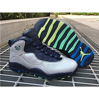 Air Jordan 10 Rio white/blue  Basketball Shoes 41--47