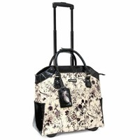 "Cabrelli Women's 15.6"" Rolling Laptop Bag - Flower Power Rollerbrief - Laptop Bags"