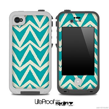 Bleeding Green V4 Chevron Pattern Skin for the iPhone 5 or 4/4s LifeProof Case