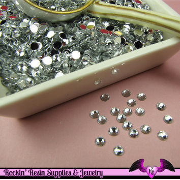 200 pcs 4mm CLEAR MIRROR RHINESTONES Flatback Great Quality 16ss