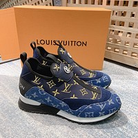 LV Louis Vuitton Men's Leather Fashion Sport Sneakers Shoes