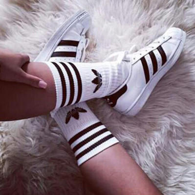 """Image of """"Adidas"""" Girl Fashion Flats Sneakers Sport Shoes Socks"""