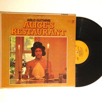 FALL SALE Arlo Guthrie Alice's Restaurant Folk Rock 1967 The Motorcycle Song LP Album Chilling Of The Evening Vinyl Record