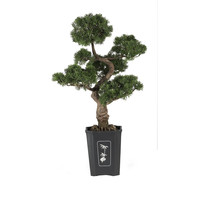 Artificial Cedar Bonsai Tree 36 in, Silk Cedar Bonsai Tree 36 in