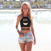 Cheshire Cat Printed Crop Top