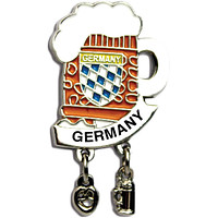 """Iconic """"Germany"""" Hat Pin Beer Mug for German Hat"""