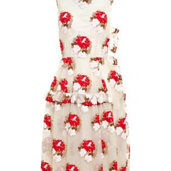 SIMONE ROCHA   Floral Lace Dress   brownsfashion.com   The Finest Edit of Luxury Fashion   Clothes, Shoes, Bags and Accessories for Men & Women