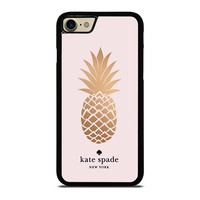 PINEAPPLE KATE SPADE iPhone 4/4S 5/5S/SE 5C 6/6S 7 8 Plus X Case