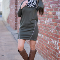 Crowd Pleaser Sweater Tunic, Olive