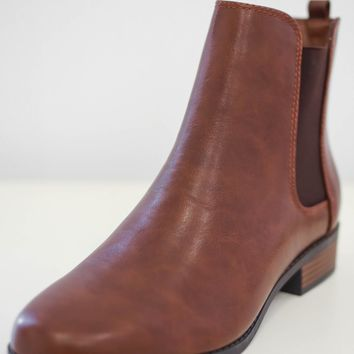 Desiree Booties - Brown