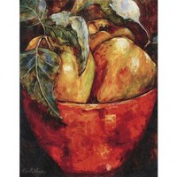 Paragon Apples in Red Bowl Canvas Art - Etienne - 9159 - All Wall Art - Wall Art & Coverings - Decor