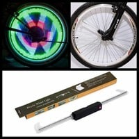 Retail  48LED Bicycle Bike Programmable Wheel Light Double-Side display 48 DIY s Patterns Rim Lighting Sports Bicycle Accessories