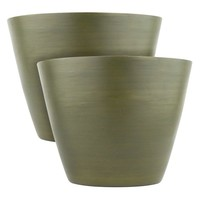 10 in. Green Bamboo Planter (2-Pack)-TW63501-10G at The Home Depot