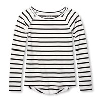 Girls Long Sleeve Striped Layering Top