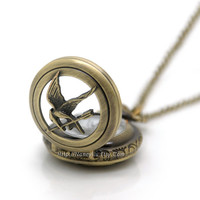 The Hunger Games Pocket Watch Necklace Inspired by Nancyliu