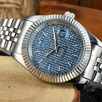 Rolex classic luxury diamond men's and women's casual business watches